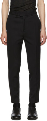 Isabel Benenato Black Piping Trousers