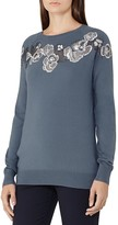 Reiss Amelia Embellished Merino-Wool Sweater