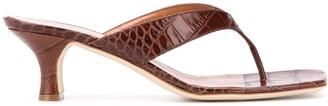Paris Texas Embossed Slip-On Sandals