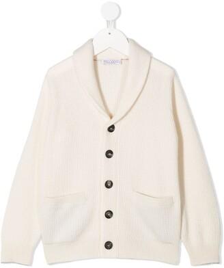 BRUNELLO CUCINELLI KIDS Ribbed-Knit Cashmere Cardigan