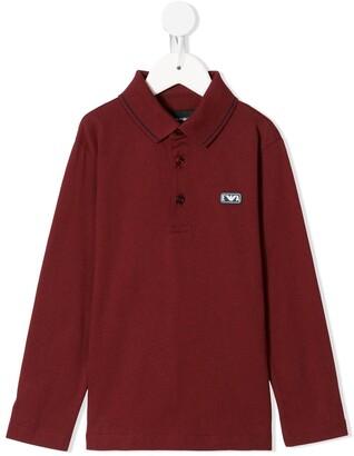 Emporio Armani Kids Logo-Patch Cotton Polo Shirt