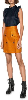 Cue Linen Aline Mini Skirt