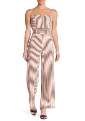 Material Girl Stripe Corset Jumpsuit