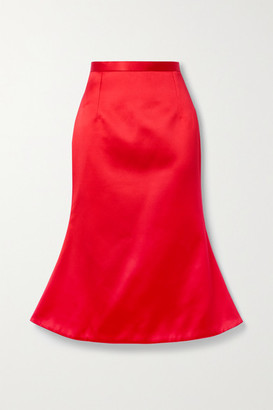 Christopher Kane Duchesse-satin Midi Skirt - Red