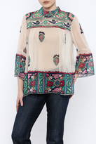 Anna Sui Printed High Neck top