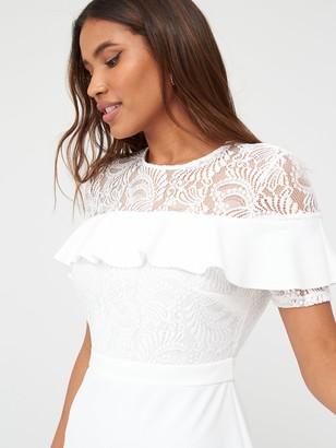 Very Round Neck Lace Skater Dress