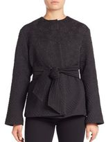 Josie Natori Dragon Jacquard Wrap Jacket