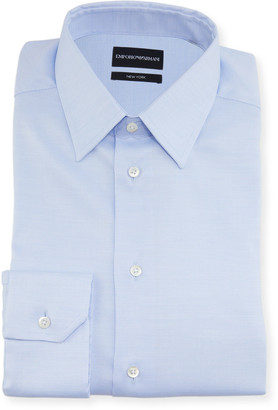 Emporio Armani Men's New York Point-Collar Micro-Weave Dress Shirt