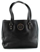 Tommy Hilfiger Maggie Pebble East West Tote Leather Tote.