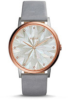 Fossil Vintage Muse Mosaic Mother-of-Pearl Analog Leather-Strap Watch