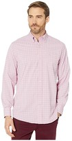 Southern Tide Bowline Plaid Intercoastal Sport Shirt (Sunkist Coral) Men's Clothing
