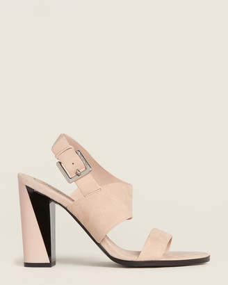 Calvin Klein Nude Carina Suede Sandals