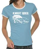 Knight Rider Girlie Ringer T-Shirt S-XL Various Colours blue Size:S