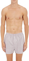 Sunspel Men's Dotted Cotton Boxers-RED