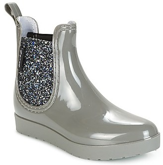BeOnly Be Only CAROLINE women's Wellington Boots in Silver