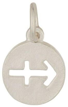 Mocha Sagittarius Zodiac Plate Sterling Silver Charm