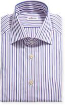 Kiton Men's Multi-Stripe Cotton Dress Shirt