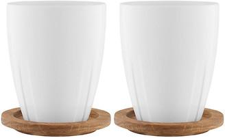 Kosta Boda Set of 2 Bruk Mugs - White