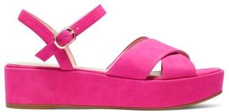 Kate Spade Bunton Suede Flatform Sandals