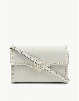 Valentino Rockstud leather crossbody satchel