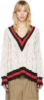 Rag & Bone White Emma Sweater
