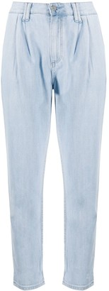 Paige Parisun denim cropped trousers