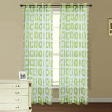Asstd National Brand Retro Jacquard Sheer Grommet-Top Curtain Panel