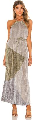 SUBOO Luna Pleat Maxi Dress