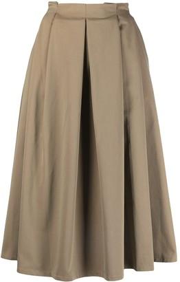 Societe Anonyme High-Waisted Pleated Skirt