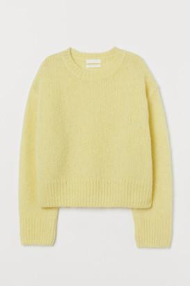 H&M Knit Wool-blend Sweater - Yellow