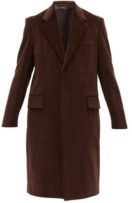 Dunhill Single Breasted Cotton Corduroy Overcoat - Mens - Brown
