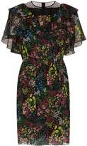 Giambattista Valli ruffled floral-print silk dress