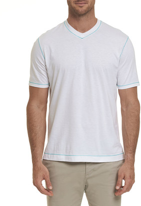 Robert Graham Men's Maxfield Short-Sleeve V-Neck Shirt