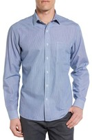 Maker & Company Men's Tailored Fit Micro Check Sport Shirt