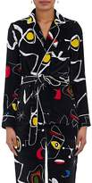 Lisa Perry WOMEN'S BELTED VELVET PAJAMA TOP