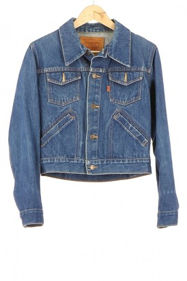 Levi's Navy Cotton Leather jackets