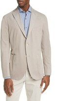 Boglioli Regular Fit Cotton Pique Knit Sport Coat
