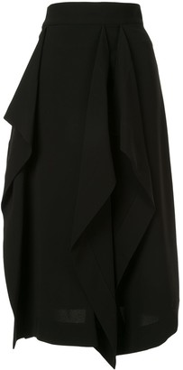 AKIRA NAKA Draped Design Skirt