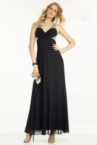 Alyce Paris - Sleeveless Bejeweled Cutout and Ruched Long Dress 35775
