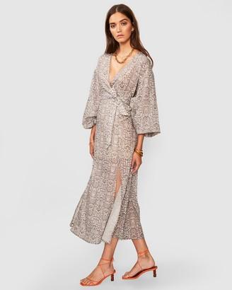 SUBOO Sylvie Balloon Sleeve Maxi Dress
