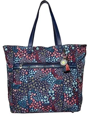 Sakroots Artist Circle Kota Nylon Travel Bag (Navy Floral Spirit) Handbags