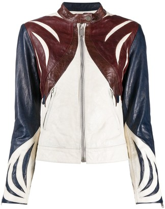 Golden Goose Panelled Leather Jacket