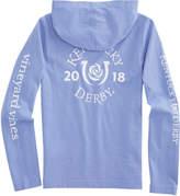 Vineyard Vines Girls Long-Sleeve Kentucky Derby Logo Hoodie Pocket Tee