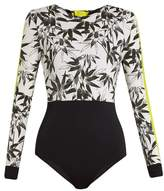 The Upside Bamboo-print performance paddle suit