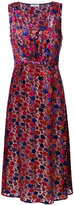 Prada sleeveless floral embroidered dress