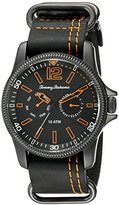 Tommy Bahama Men's 10018316 Paradise Pilot Multifunction Analog Display Japanese Quartz Black Watch