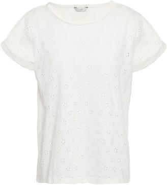 Joie Dakara Broderie Anglaise Cotton-jersey T-shirt