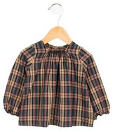 Bonpoint Girls' Long Sleeve Plaid Patterned Top
