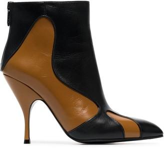 Bottega Veneta Curl 100 Leather Boots