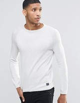 Pull&bear Crew Neck Jumper In Off White